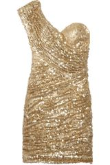 Rare Opulence Sequined One-shoulder Mini Dress - Lyst