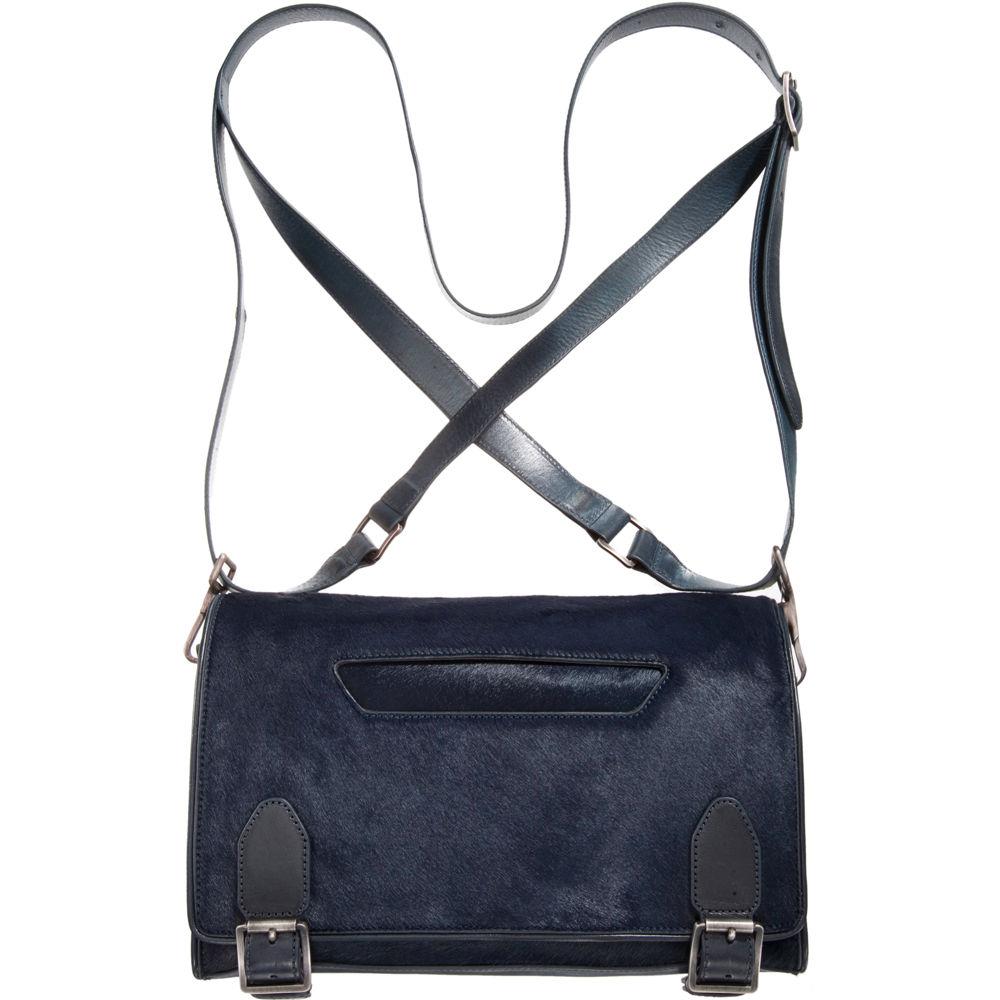 0fc867255dd Theyskens' Theory Small Calf Hair Messenger Bag in Blue - Lyst
