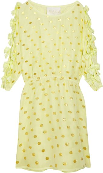 Thread Social Polka-dot Silk-blend Dress - Lyst