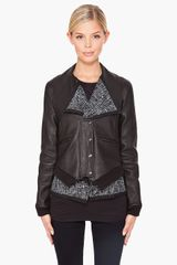 Thakoon Layered Leather Jacket - Lyst