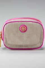 Tory Burch Logo Cosmetic Case, Small - Lyst