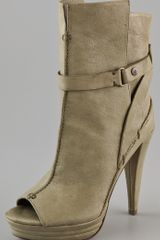 7 For All Mankind Raven Open Toe Booties - Lyst