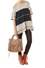 Acne Zorah Stripe Tunic in Blue (navy) - Lyst