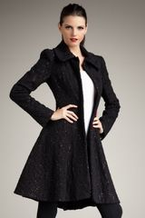 Alice + Olivia Bennett Flared Coat - Lyst