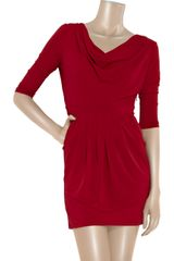 Paul & Joe Sister Andromed Cowlneck Jersey Dress in Red - Lyst
