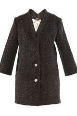 Theyskens' Theory Fleck Wool Coat - Lyst