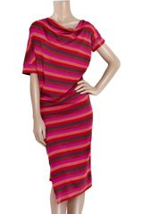 Vivienne Westwood Anglomania New Drape Jersey Dress in Red (pink) - Lyst