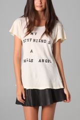 Wildfox Hells Angel Tee - Lyst