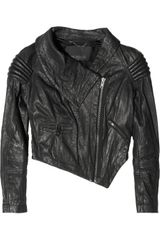 Yigal Azrouel Cropped Leather Motocross Jacket - Lyst