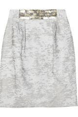 Yigal Azrouel Burnout Cotton-blend Skirt - Lyst