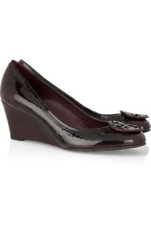 Tory Burch Sally Patent-leather Wedge Pumps - Lyst