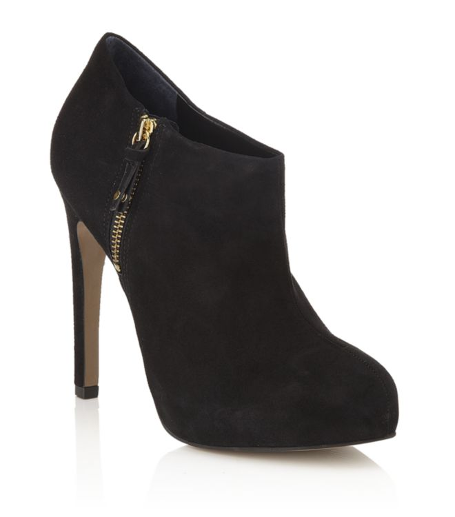 carvela kurt geiger start suede boot in black lyst