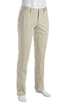 Hugo Boss Black Beige Cotton Stash Slim Straight Pants - Lyst
