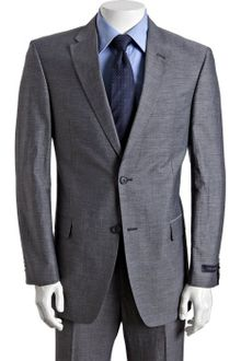 Tommy Hilfiger Slate Cotton-linen Nathan Two-button Suit with Flat Front Pants - Lyst
