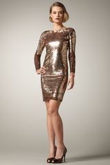Alice + Olivia Breck Sequined Dress - Lyst