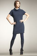 Cacharel Double-collar Sweater Dress - Lyst