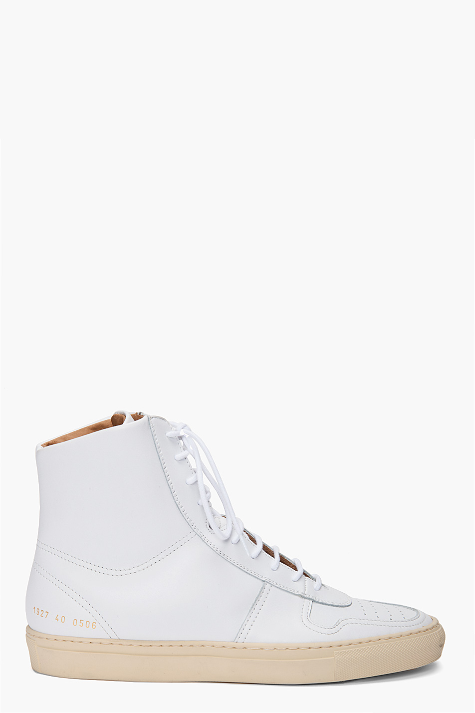 Common Projects Vintage Bball Sneakers in White for Men | Lyst