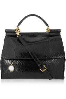 Dolce & Gabbana Structured Python Shoulder Bag - Lyst