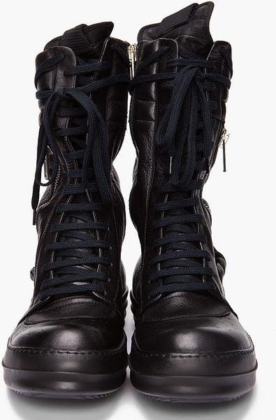 Rick Owens Cargo Basket Boots In Black For Men Lyst