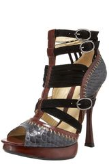 Alexandre Birman Python/leather Gladiator Sandal - Lyst