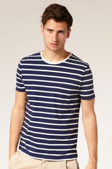 ASOS Collection Asos Striped Crew Neck T-shirt with Pocket - Lyst