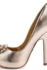 Badgley Mischka Lissa  Platinum Metallic in Gold - Lyst