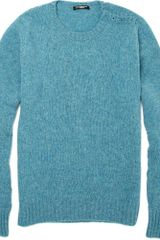 Balmain Split Shoulder Wool Sweater - Lyst