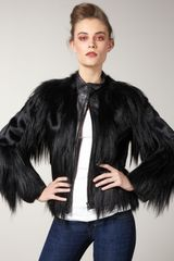 Elizabeth And James Kate Fur/leather Jacket - Lyst