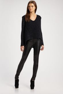 Helmut Lang Speckled Panel-knit Pullover - Lyst