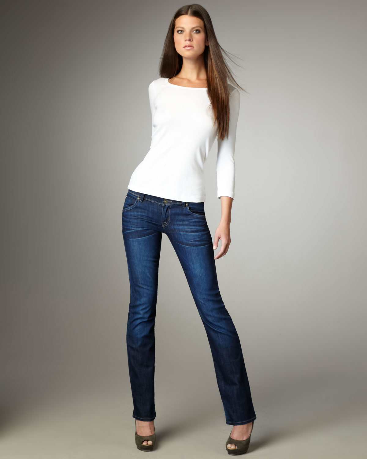 Hudson jeans Beth Carnaby Baby Boot-cut Jeans in Blue  Lyst