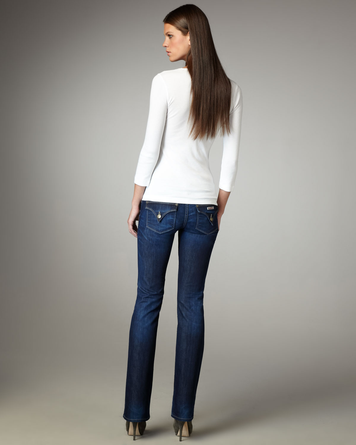 Hudson jeans Beth Carnaby Baby Boot-cut Jeans in Blue | Lyst