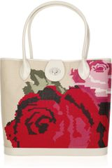 Lulu Guinness Edith Canvas Tapestry Tote - Lyst
