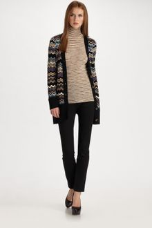 M Missoni Pointelle Wave Stripe Cardigan - Lyst