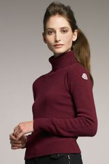Moncler Wool-cashmere Turtleneck, Berry - Lyst