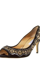 Oscar de la Renta Star-disc Embroidered Pump - Lyst
