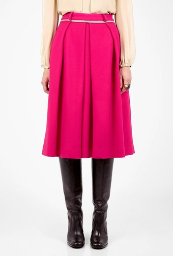 Preen Pink A-line Box Pleat Skirt - Lyst
