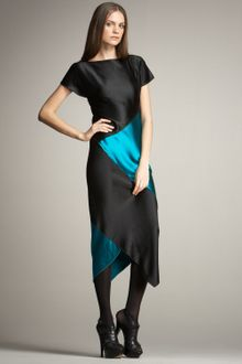 Proenza Schouler Satin Colorblock Dress - Lyst