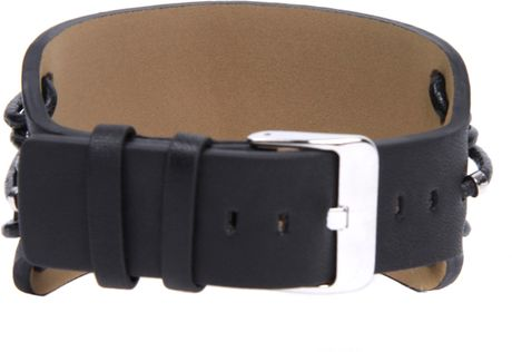 Storm Watches Storm Ox Leather Cuff Bracelet In Black For