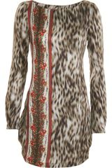 Suno Leopard Mini Dress - Lyst