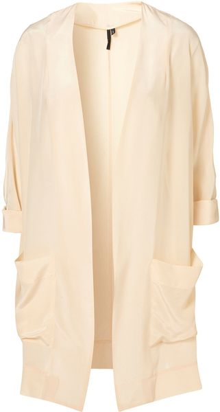 Topshop Silk Jacket By Boutique - Lyst