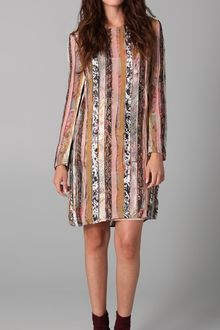 Zimmermann Mixed Print Long Sleeve Dress - Lyst