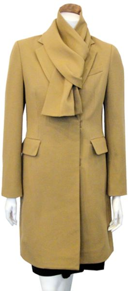 3.1 Phillip Lim Single Breasted Coat with Scarf in Beige (camel)