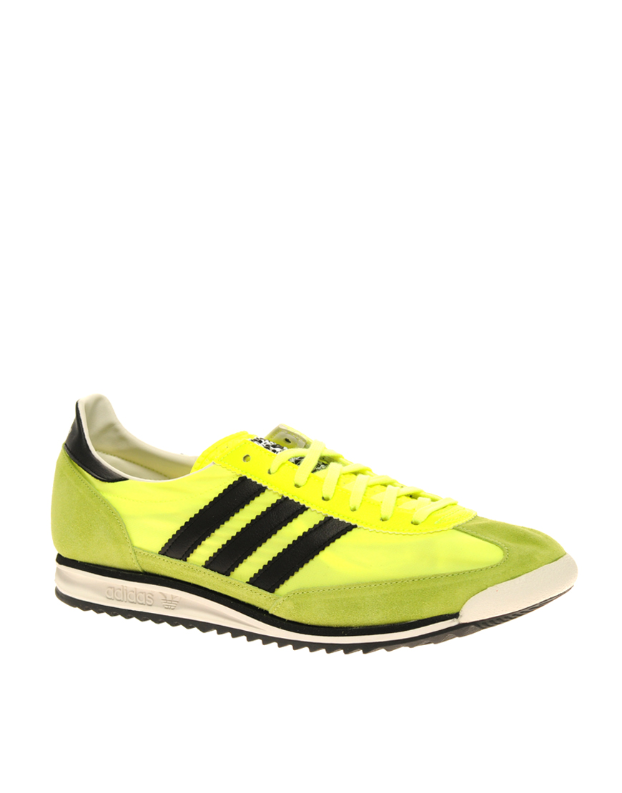 adidas originals sl 72 trainers in yellow for men lyst. Black Bedroom Furniture Sets. Home Design Ideas