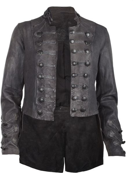 Allsaints Brocade Military Tailcoat in Gray (smoke) - Lyst