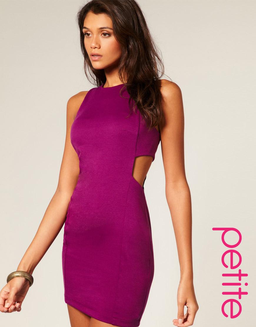 Purple Cut Out Dresses
