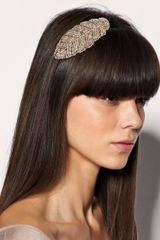 ASOS Collection Asos Copper Beaded Leaf Headband