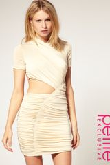 ASOS Collection Asos Petite Exclusive Cut Out Slinky Dress - Lyst