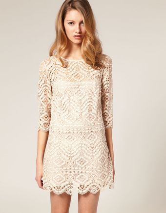 ASOS Collection Asos Salon Lace Shift Dress - Lyst