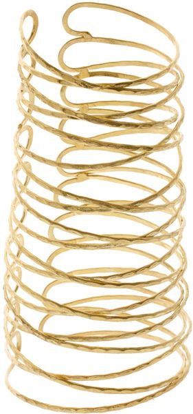 ASOS Collection Asos Hammered Effect Wired Metal Cuff - Lyst