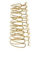 Asos Collection Asos Hammered Effect Wired Metal Cuff in Gold - Lyst